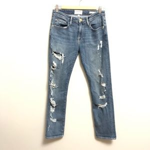 Frame Le Grand Garcon Fairbanks Distressed Jeans